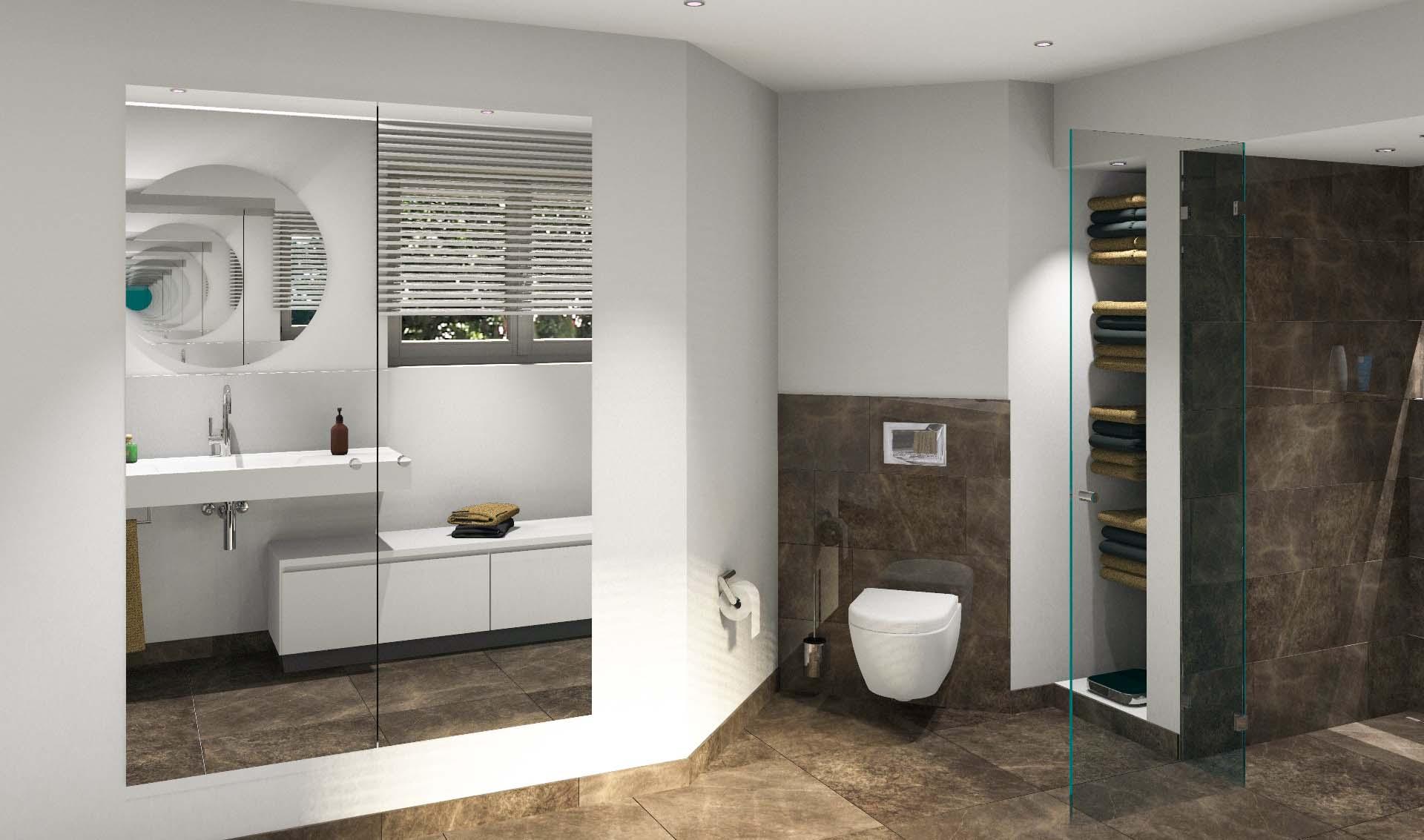 Bestehende Nischen nutzen, Toilette verstecken.