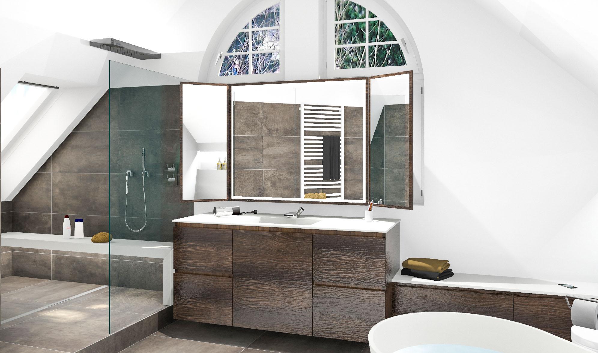 Die Herausforderung bei einer Badrenovierung komplett aus einer Hand ist die Harmonie von Farben, Formen und Materialien